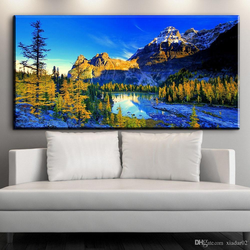 2019 ZZ1534 Beautiful Landscape Canvas Prints Art Blue Sky ...