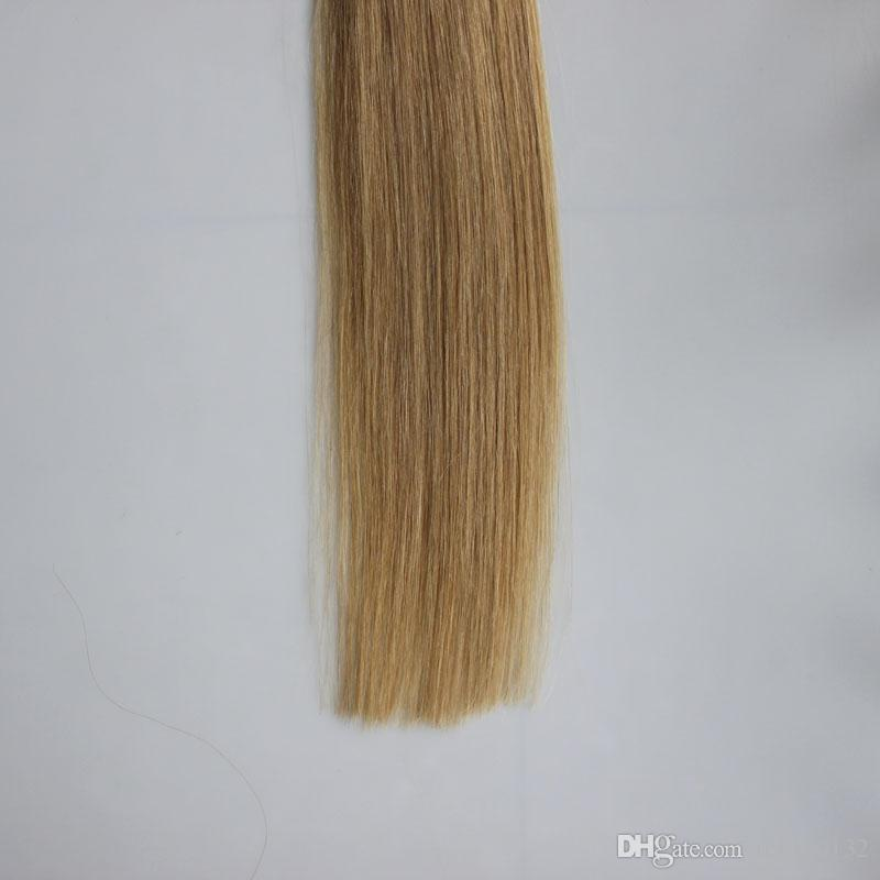 #12 Light Golden Brown Straight Loop Micro Ring Hair 1g/strand 50s/pack 50g micro loop human hair extensions 4b 4c