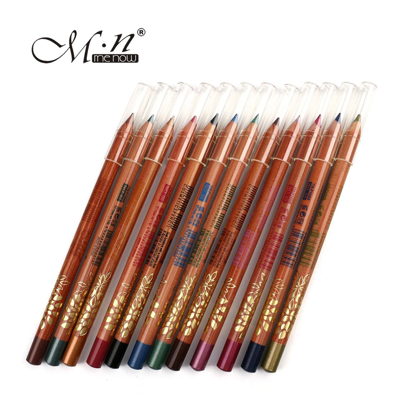 Menow Oriental Wood Eye Liner Pencils Bright Smooth ...