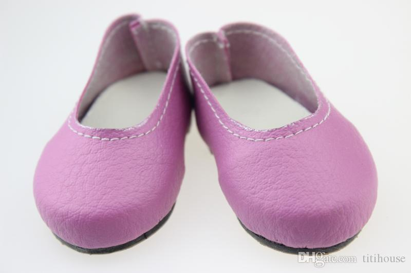 Fashion 18Inch Girl Doll Shose Infant Girls Pu Leather Baby Doll Shose Toddler Soft Sole Shoes Fit For Any 18 inch