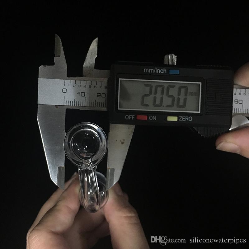 Moq é 1 Peça Melhor Quartz Banger Prego Feminino 14mm Comum 90 Graus 4mm Grosso Copo de Diâmetro 20mm Prego De Quartzo Térmico Para Plataformas De Petróleo