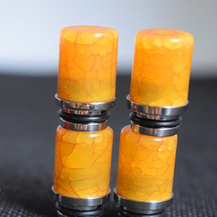 Hohe Qualität 510 Harz Tropfspitzen für e Cigs Edelstahl Wide Bore Tipp Dripts fit 510 Atomizer Subtank Mini neue heiße
