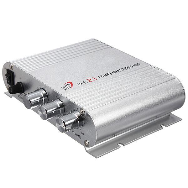 Freeshipping Mini Hi-Fi CD MP3 Radio Car Auto Moto Home Audio Stereo Bass Amplificatore Boostrer Player 12V 200W