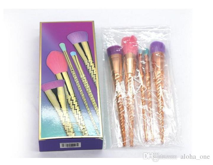 5 parlak renk gül altın makyaj fırça vida makyaj araçları makyaj araçları Kontur makyaj fırça DHL kargo