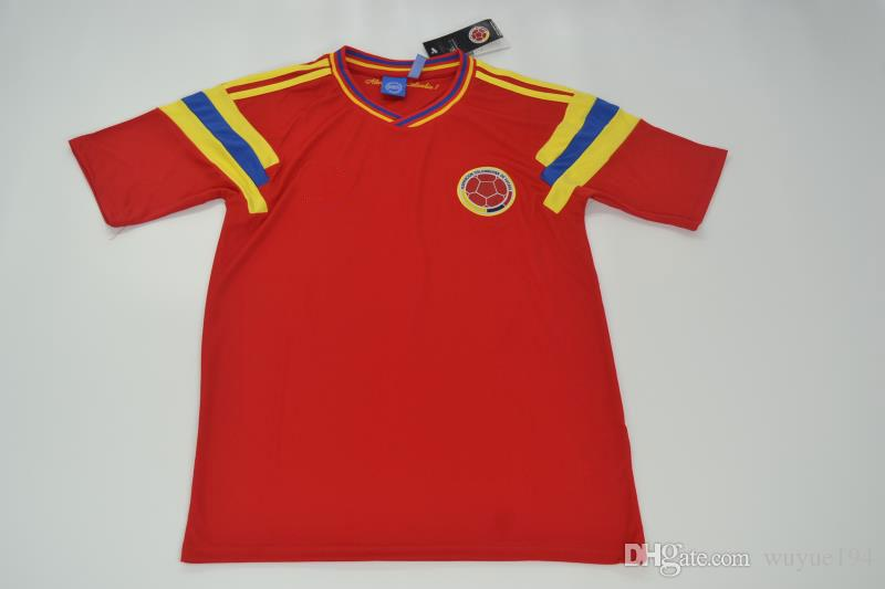 44df755dc 2019 Colombia Home Shirt For The 1990 World Cup Finals Escobar Valderrama  Higuita Jerseys Retor Jerseys Rugby Jerseys From Wuyue194