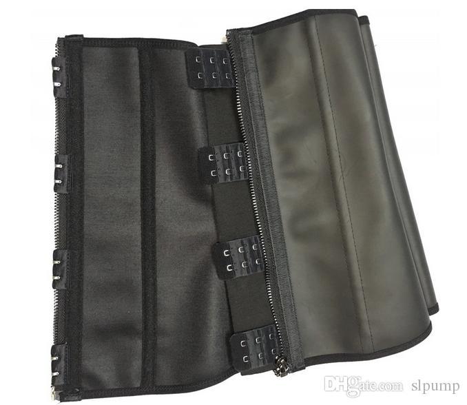 Zipper Hooks Rubber Latex Waist Trainer belt Sexy Body Waist Training Corsets Underbust Waist Cincher Zip And Clip Shaper