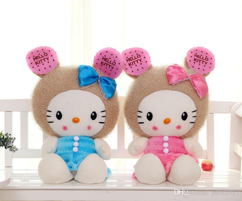 Hot Sale Lovely KITTY CAT Doll Plush Toy Cookies Cat Stuffed Animal Valentine's Day Gifts Dolls