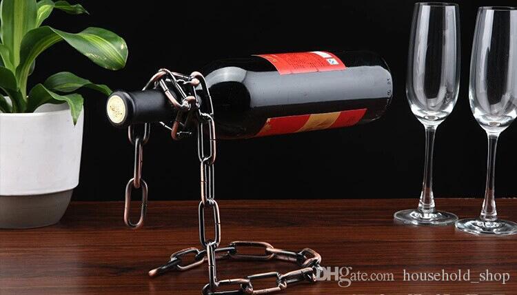 Red Wine Bottle Holder Kreative Suspension Seil Kette Gestell für Rotweinflasche 3cm Hauptlieferungs-Ornamente Kostenloser Versand