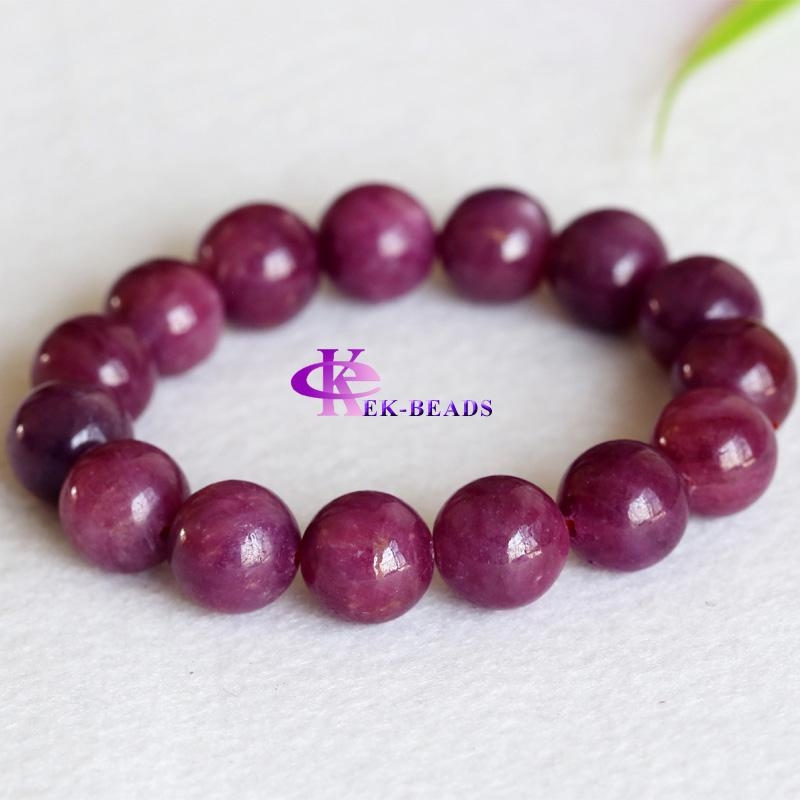 bracelet ruby free bracelets beads pink finished discount item genuine natural round red smooth wholesale shipping stretch