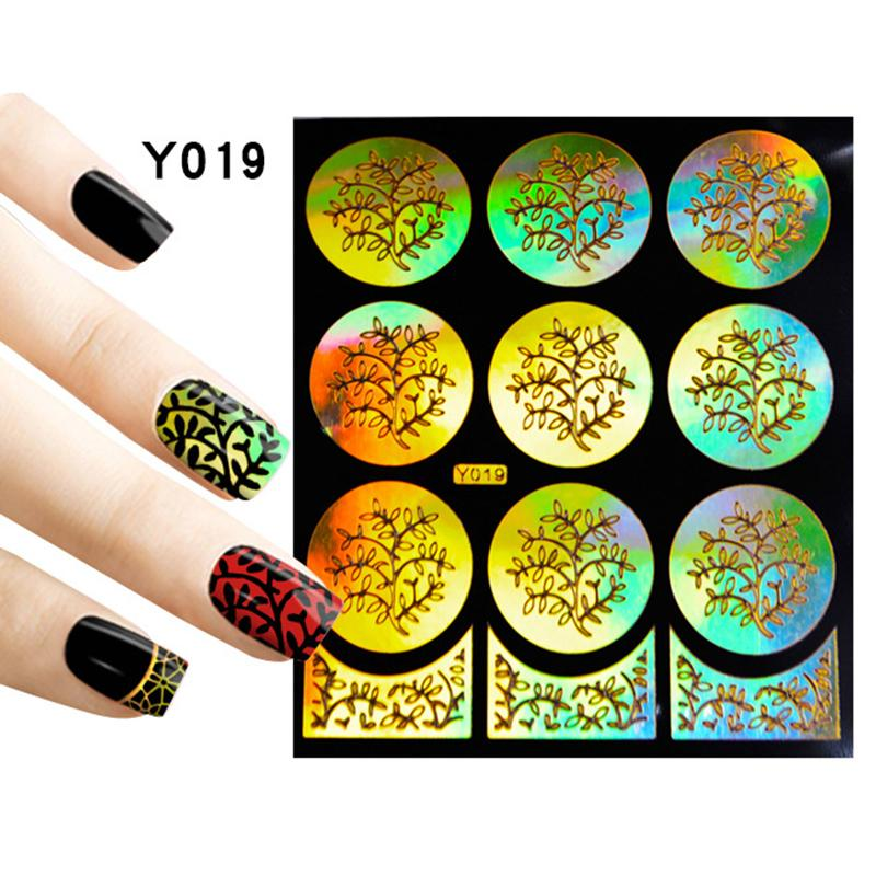 Wholesale 2016 New Silver Hollow Vinyls Nail Art Stamp Stamping ...