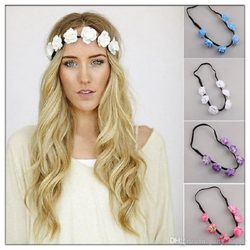 Hair Wreath Cloth Wreath Bride Bridesmaid Dress Beach Wedding Headband Bridal Headbands Headbands For Girls Flowers For Headbands