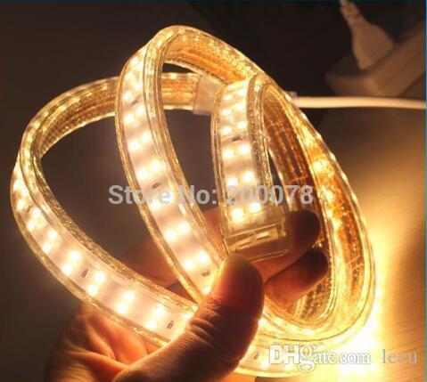 100m 110v 220v double row smd 5730 3014 2835 5050 led strips fita led strip light waterproof flexible ribbon rope white/warm white