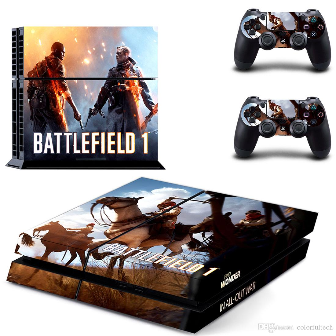 Ps4 Custom Battlefield 1 Vinyl Skin Cover Decals For Sony Game Playstation 4 Console And Controllersgytm0611 Video Stickers