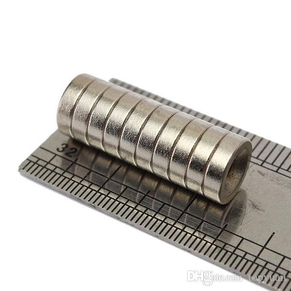 10 stücke N35 10x3mm Starke Scheibe Magnet 3mm Loch Seltene Erde Neodym Magneten