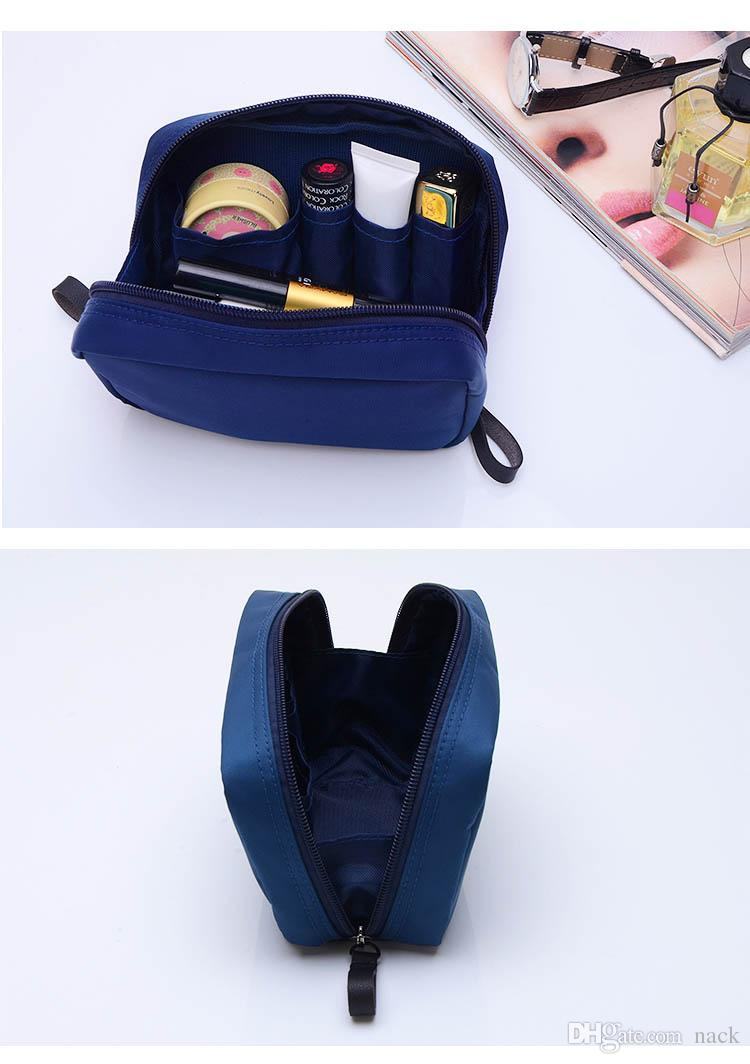 Hand in hand to take the contracted makeup package small square bag large capacity south Korean portable waterproof cosmetics big accept bag