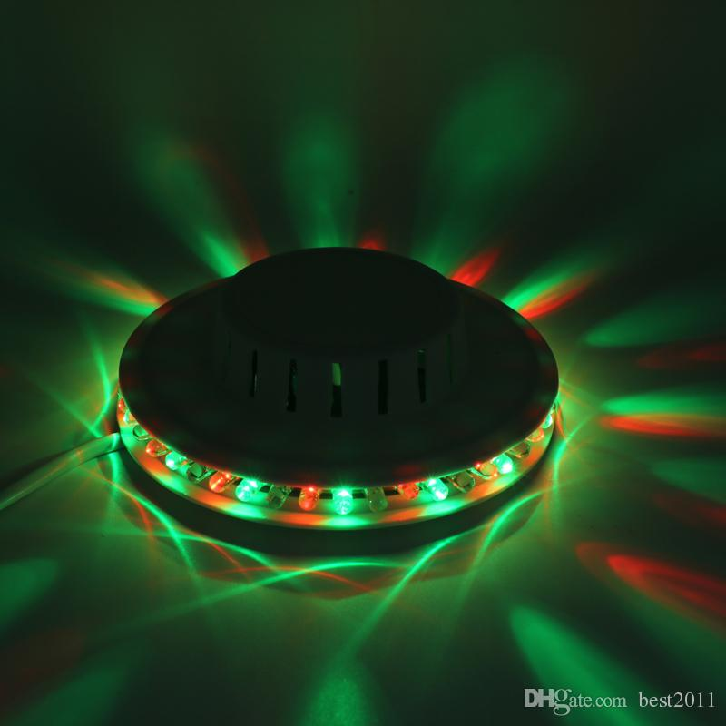Negro blanco Girasol LED Light Magic es 48 LEDs auto activado por voz LED RGB Stage Light para fiesta en casa Disco Stage