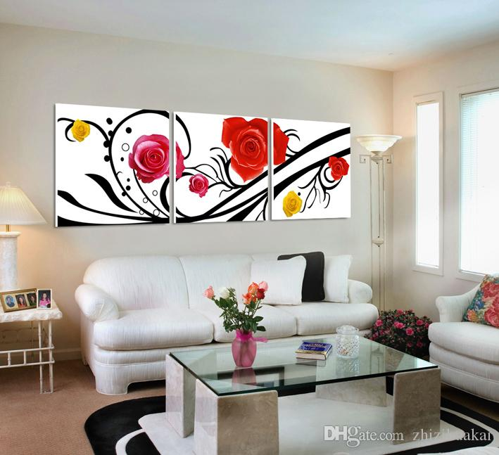 no frame Home decoration picture Canvas Print rose Abstract cartoon potted flower leaf tree autumn Coffee alarm clock