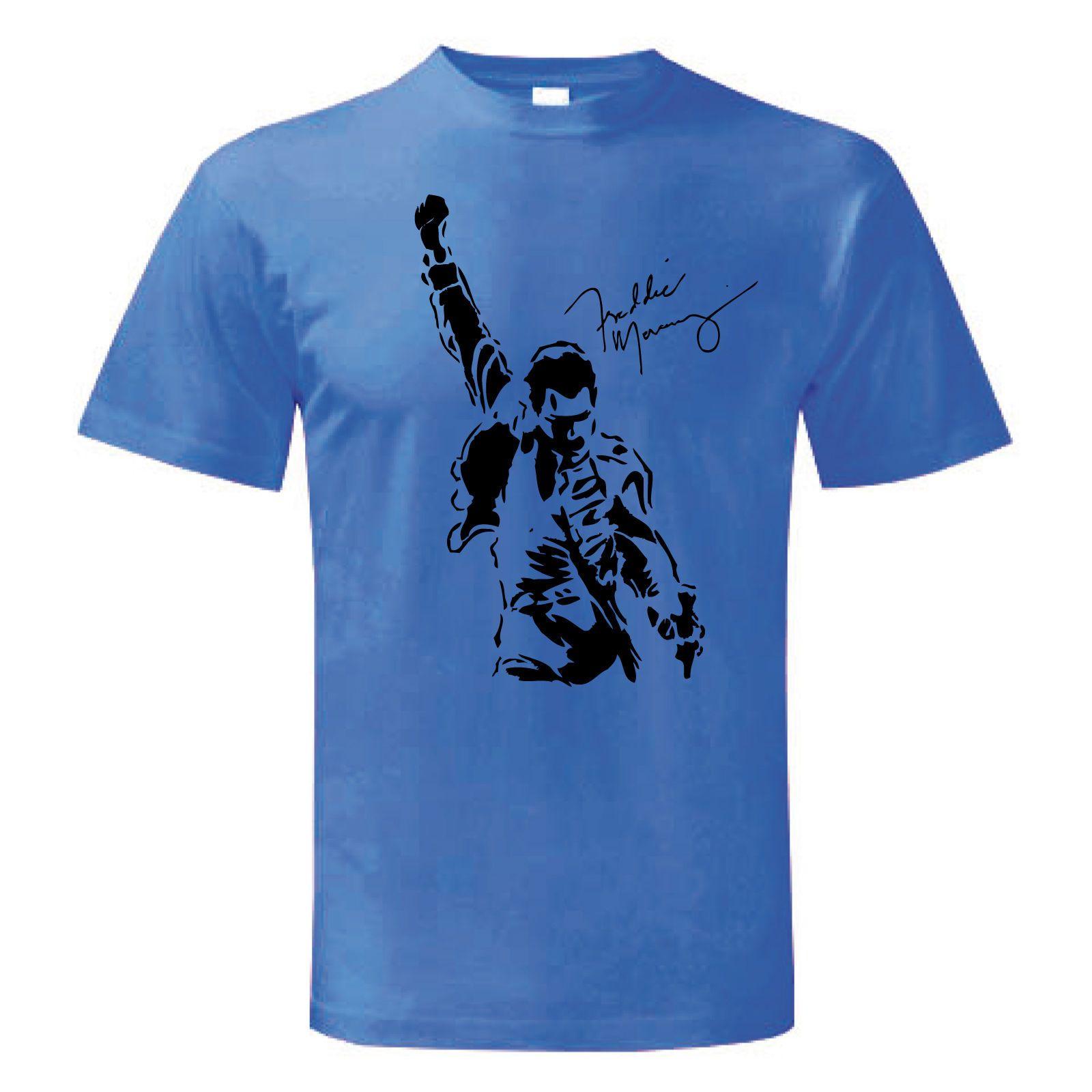 722d238d44f T Shirt FREDDIE MERCURY Freddy Maglietta Maglia Uomo Donna Man Queen  INNUENDO Day Shirt Tee T From Beidhgate06