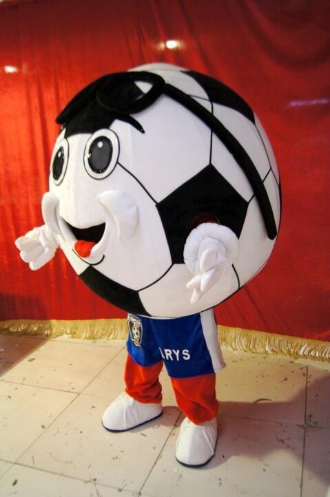 Haute qualité Real Pictures Deluxe football mascotte costume anime costumes publicité mascotte taille adulte direct usine livraison gratuite