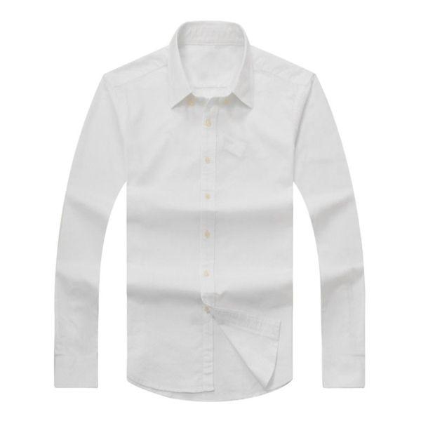 autumn and winter men's long-sleeved cotton shirt pure men's casual POLO shirt fashion Oxford shirt