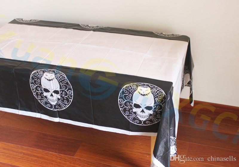 bar hotel home party DIY decoration haunted tablecloth PE pumpkin Table clothes Halloween decoration Tablecover props