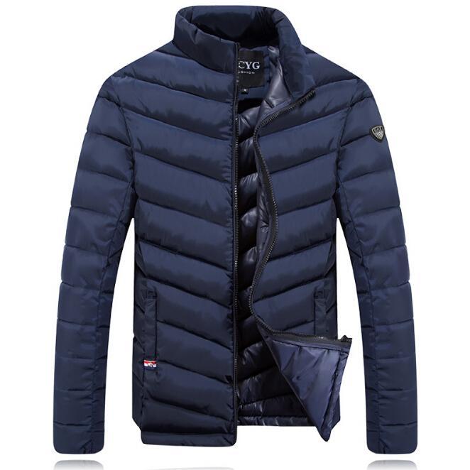Nuovi uomini spessi giù cappotti invernali vestiti caldi piumini maschi Slim Fit Abbigliamento Capispalla imbottiti in cotone