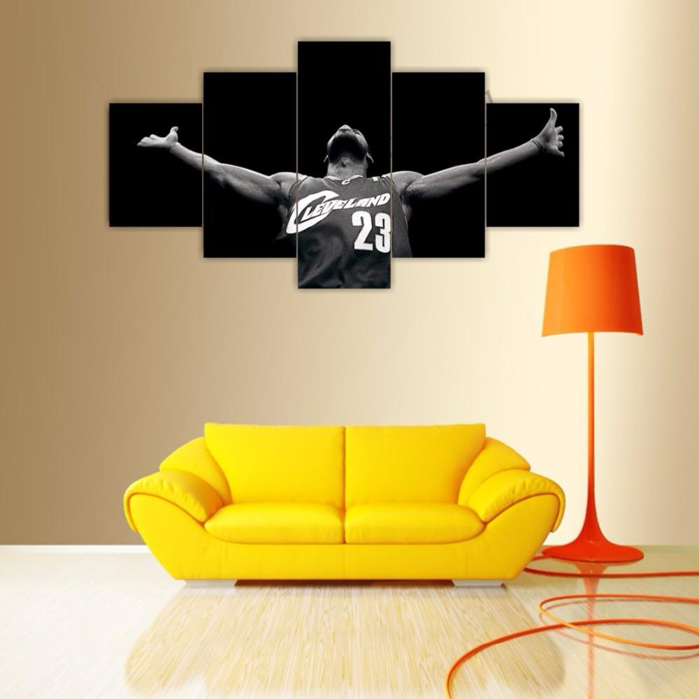2018 Famouse Basketball Player Painting On Canvas Five Pieces ...