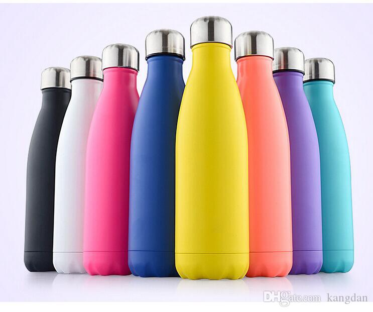 350ml 12oz Insulated Stainless Steel Water Bottle baby kids drinking cups colorful cooler mug outdoor portable wine Bottles drinking cup