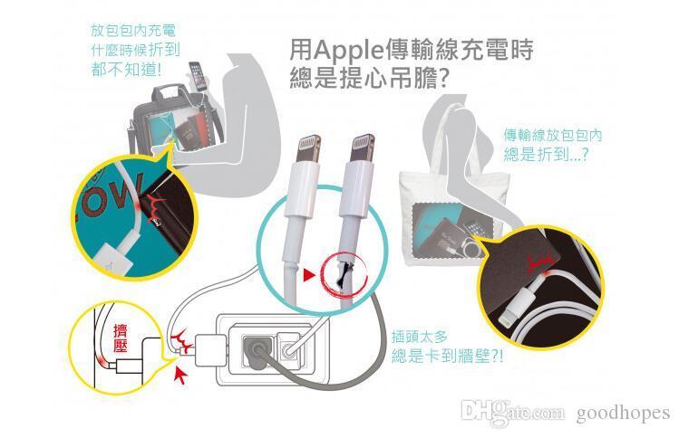 Heißer Verkauf Silikon USB Power Ladekabel Saver Schutz Abdeckung für Apple iPhone 4 s 5 5 s 6 6 Plus Schutz EC834 freies shiping