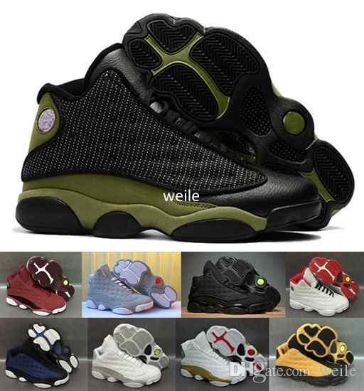 a93b424e6e9d 2019 13 XIII Olive Army Green Men Basketball Shoes