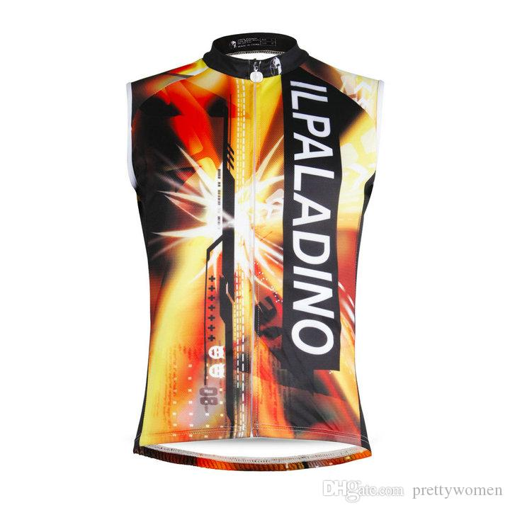 PALADIN Men's Sleeveless Cycling Vest +shorts Vest Breathable Cycling Jersey quick dry maillot Sport ciclo jersey