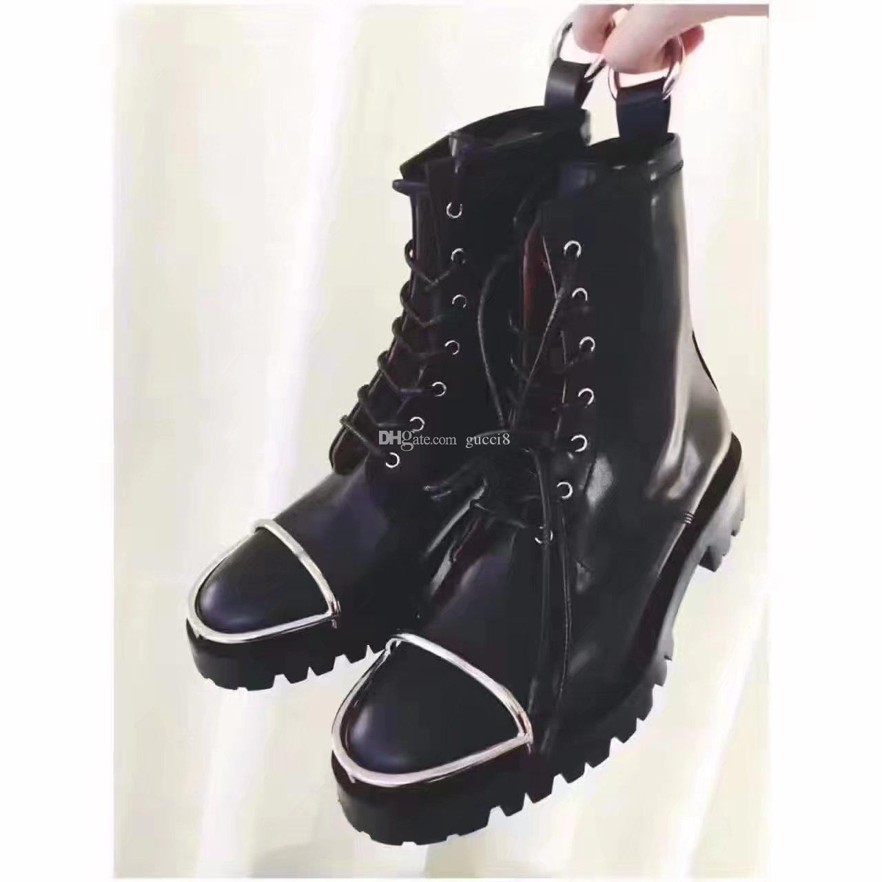 womens combat boots new 2018 fall winter black flats