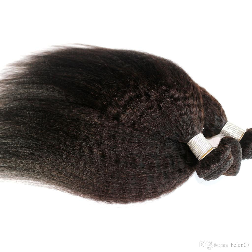 Kinky Straight Mongolian Hair Weaves Cambodian Burmese Vietnamese Hair 10-24inch 1bundleNatural Color Unprocessed Human Hair Extensions