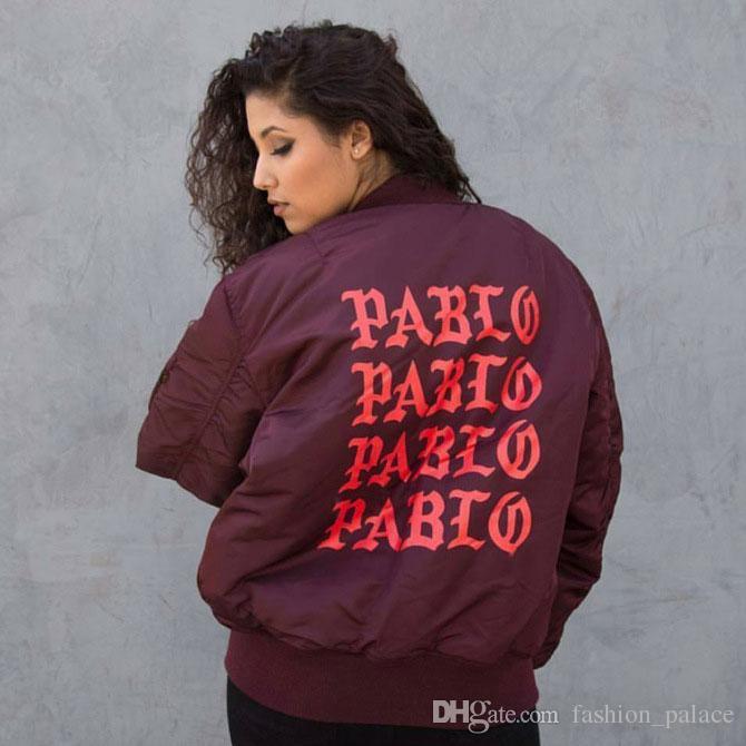 7a574cbe837d Kanye West PABLO Bomber Jacket Women Men Fashion MA 1 Flight Jacket High  Quality Quilted Winter Jackets Coat Hip Hop Streetwear OSG0903 Mens Jacket  Brands ...
