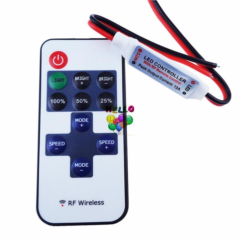 섬세 한 단일 색 원격 제어 조 광 기 DC 스트립 조명에 대 한 12V 11keys 미니 무선 RF LED 컨트롤러
