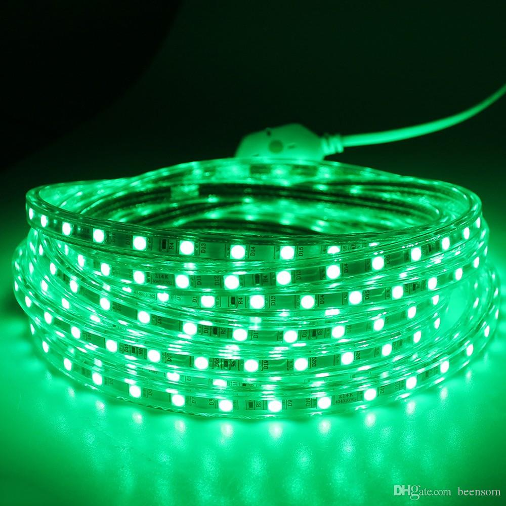 5050 smd led strip light 60ledm 110v 220v waterproof flexible strip 5050 smd led strip light 60ledm 110v 220v waterproof flexible strip light tv background indoor home lighting with plug by dhl battery led strip lights usb aloadofball
