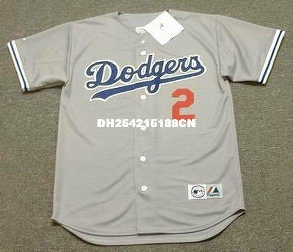 los angeles 09ef4 99162 Throwback #2 TOMMY LASORDA Los Angeles Dodgers Retro jerseys Throwback Away  embroidery Men s baseball jersey