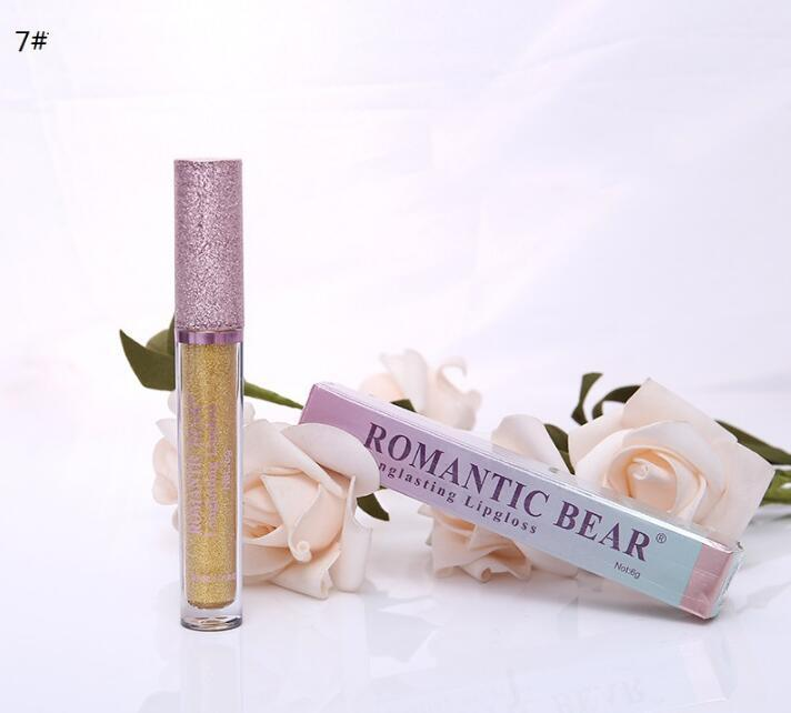 Rossetto liquido impermeabile dell'orso romantico di lunga durata Lipgloss i disponibili nuovi in scatola DHL liberamente