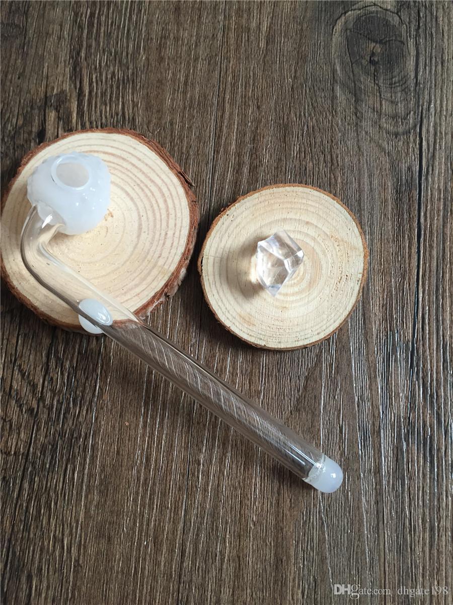 Billiges dickes Glasölbrennerrohr Erdbeerpfeifentabakhandpfeife dickes Glasrohr-klare Pfeifen für Kraut Pipesi-Handrohr