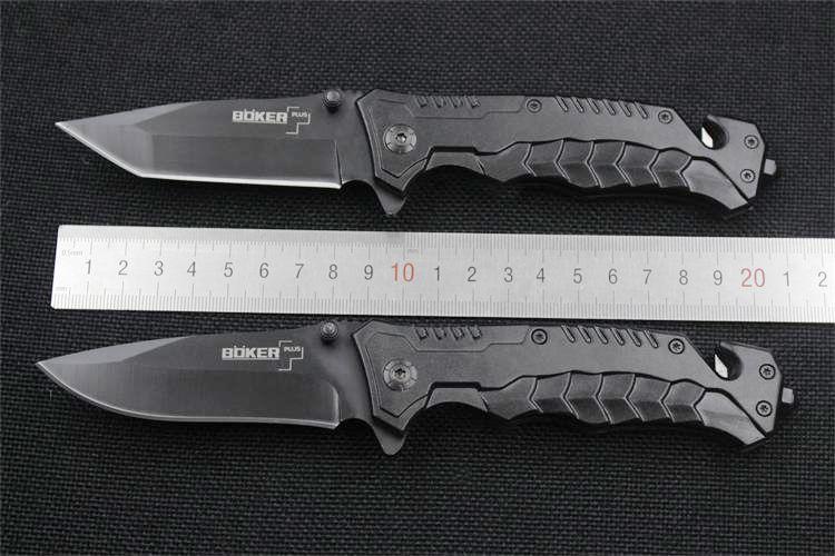 2016 BOKER Negro EDC Pocket 440C 2 Estilo Cuchilla plegable Cuchillo que acampa Senderismo Utilidad táctica al aire libre Gear Knife F547L