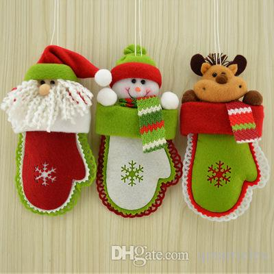 indoor christmas decoration high quality deer santa claus christmas snowman christmas gloves new year best accessories