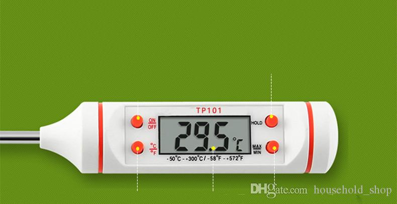 Günstigstes Kitchen Thermometer Outdoor Camp Kithcen Messen Temperatur Elektronische Sonde Temperatur Instrument Wärme Und Kalte Lebensmittel Grade Tools