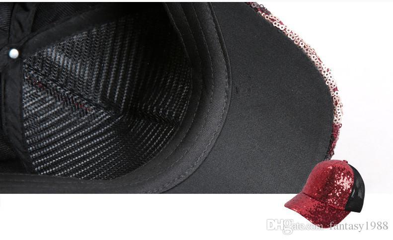 2016 Chapéu de Esportes Das Mulheres Hip Hop Caps Chapéus de Sol Da Menina Ao Ar Livre Snapbacks Lantejoulas 3 Pçs / lote Factroy Pice Frete Grátis