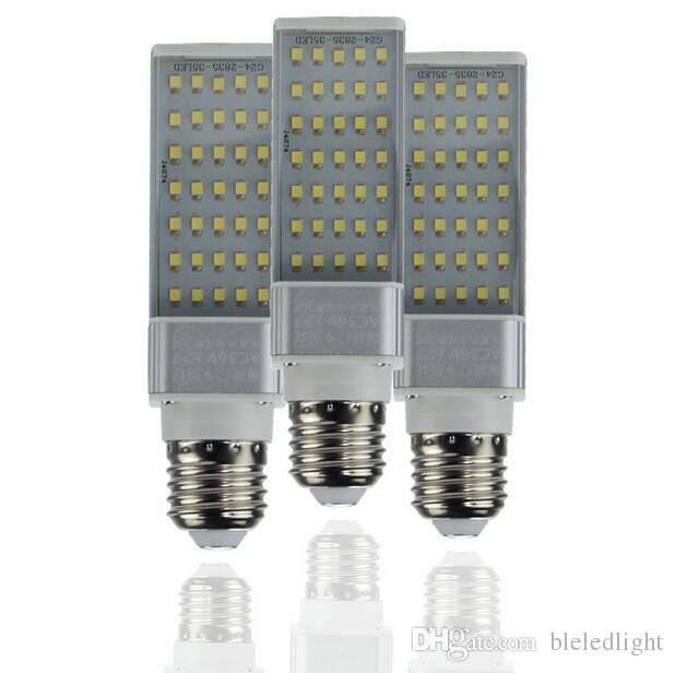 E27 G24 5W 7W 9W 11W 13W 15W 110V 220V Horizontal Plug lamp SMD2835 Bombillas LED PL Corn Bulb Spot light Lighting