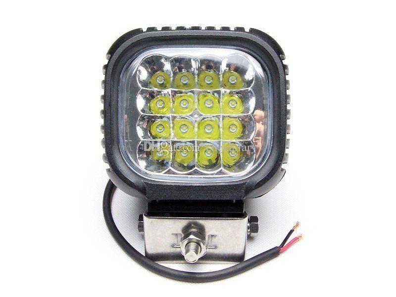 무료 배송 5 '48w 크리어 led 작업 조명 오프로드 led 스포트 라이트 자리 홍수 자동차 led 4 x 4 빛