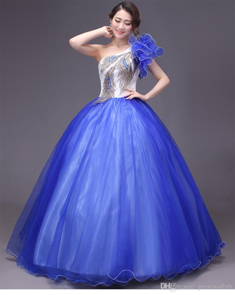 Vestidos azul pavo real