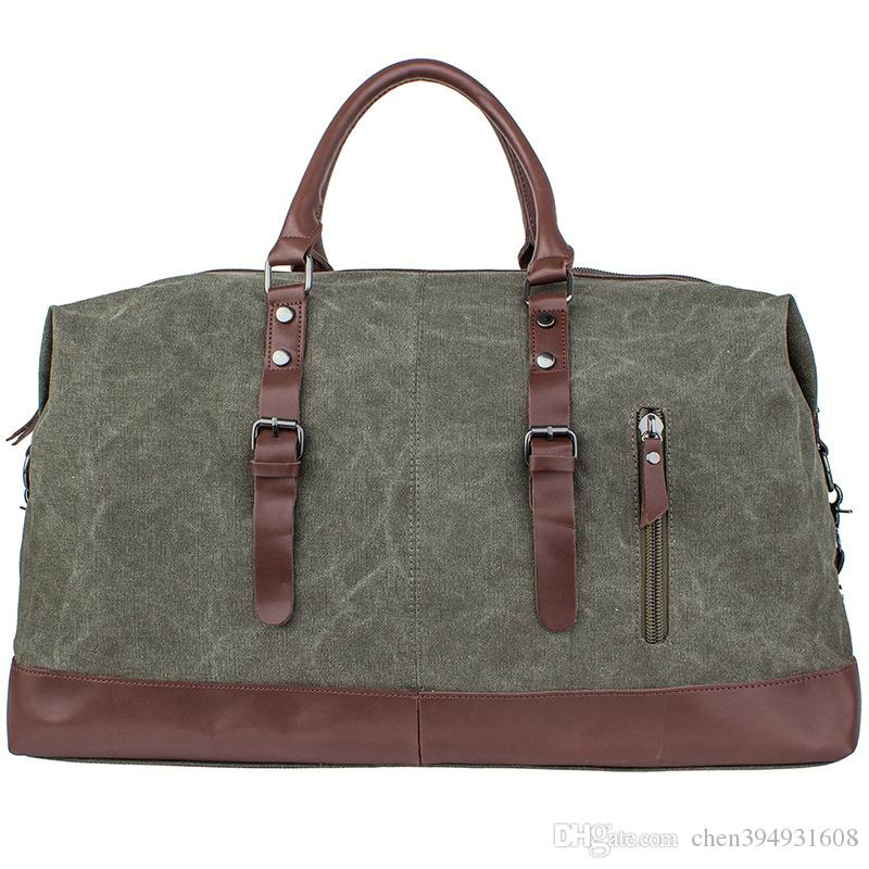 2019 Vintage Military Canvas Crazy Horse Men Travel Bags Carry On Luggage  Bags Men Duffel Bag Travel Tote Large Weekend Bag Overnight From  Chen394931608 6d0d47e522110