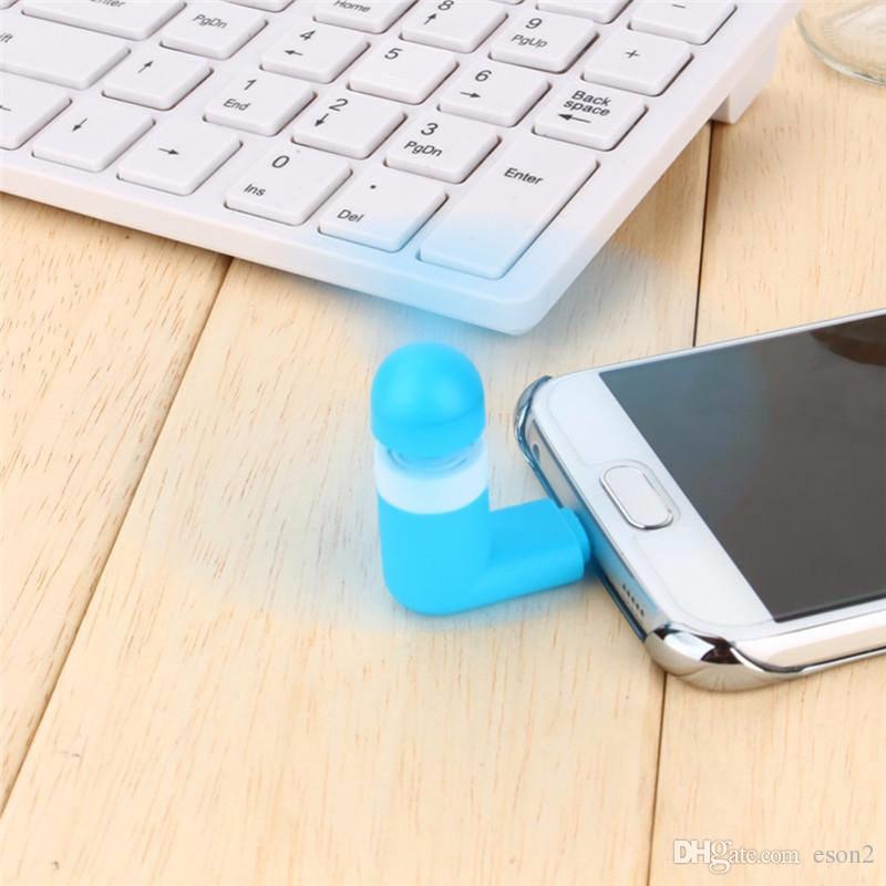 100% test taşınabilir büyük rüzgar dilsiz mini usb soğutma fanı cep telefonu fanı iphone 5 / 5s / 6 / 6s artı samsung android telefon opp torba