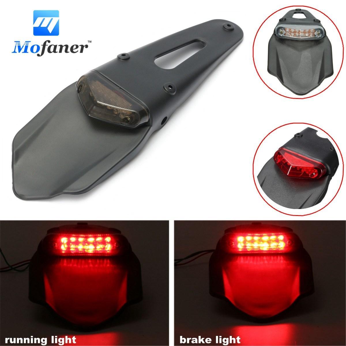 Mofaner Motorcycle Rear Tail Light For Fender Lights 12 LED Lamp ...