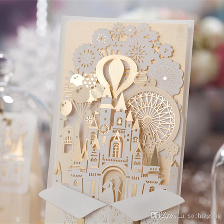 Personalized Latest Fairytale Castle Wedding Invitation ...